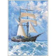 Gold Puzzle  500  - Ocean sailboat